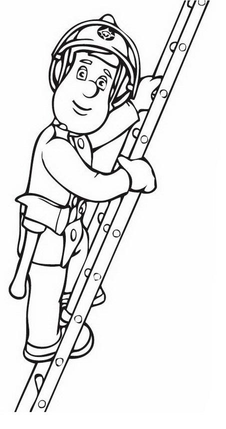 Dibujo de persona subiendo escalera para colorear y pintar - Escaleras para pintar ...