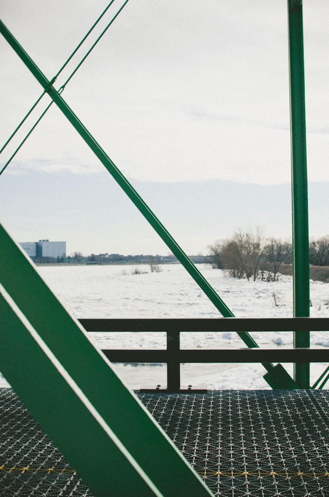 Delaware, River, Frozen, Trenton, Calhoun, Street, Bridge,