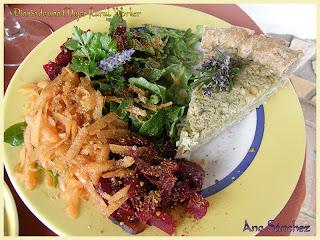 Pastel de brócoli y tofu