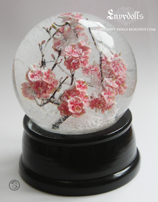 cherry blossom snowglobe