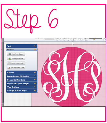 How to make monogrammed stickers prep avenue