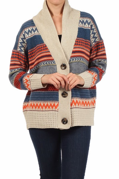 Navajo-inspired Winter Cardigan