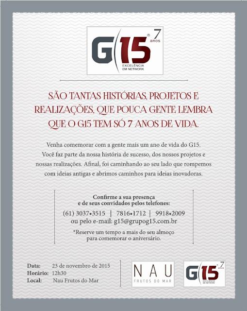 Almoço de Aniversário do Grupo G15