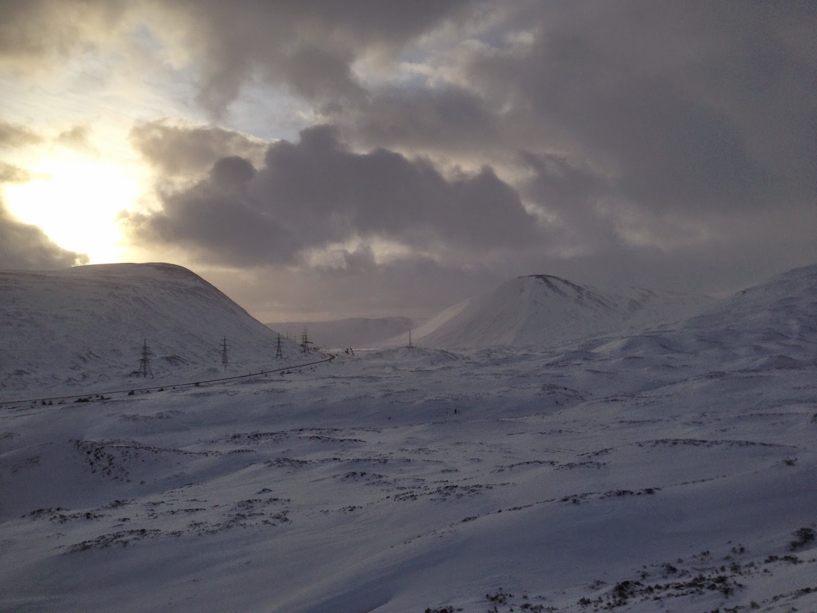 Winter above Drumochter