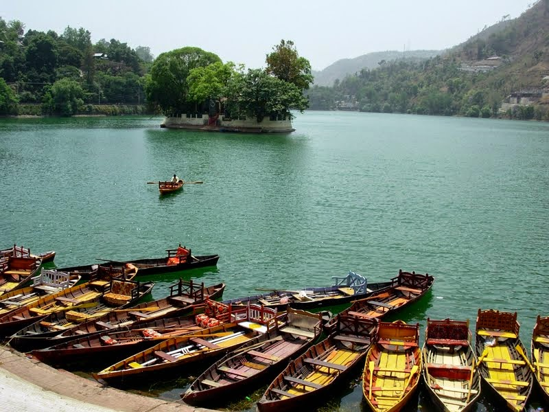 Boating at Bhimtal Lake