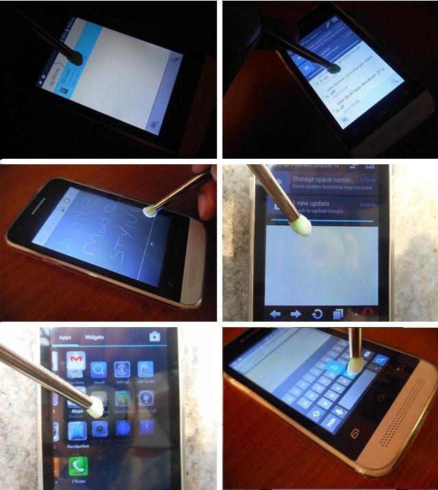 testing the stylus