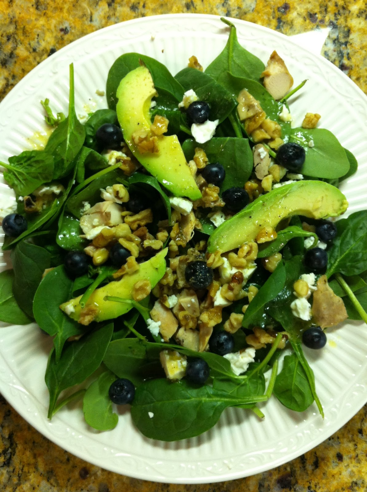 ... on a REAL Budget: Avocado & Spinach Salad with Warm Citrus Vinaigrette