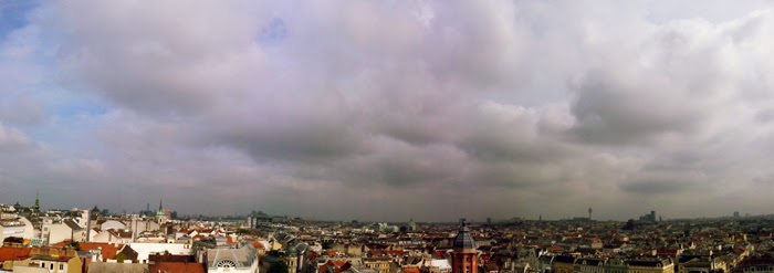 Rooftop View from the Haus des Meeres, Vienna