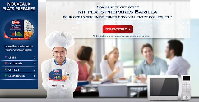 Kit entreprise 18 plats préparés Barilla 100% GRATUIT