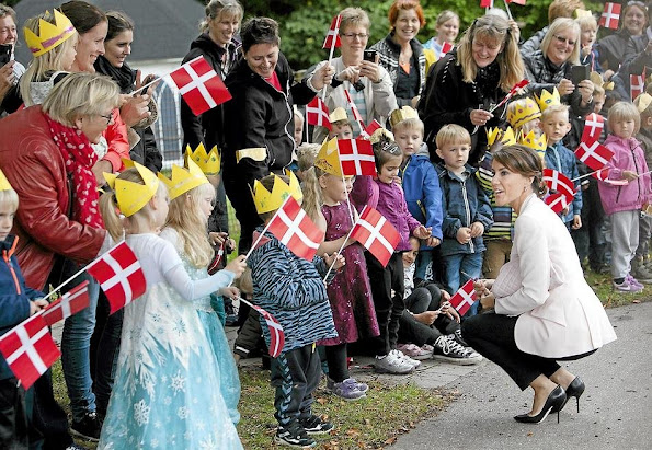 Princess Marie of Denmark attended the celebrations marking the 60th anniversary of the Epilepsy Hospital's Children Department