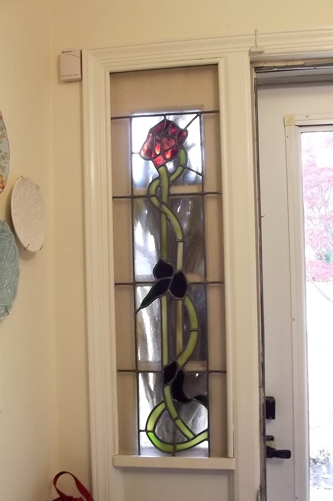 Removing Stained Glass Sidelights Diy Project Days Of Chalk And