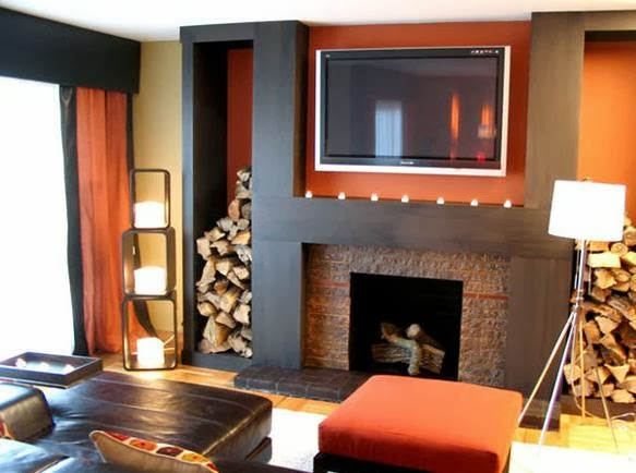 Living Room With LED & Fireplace