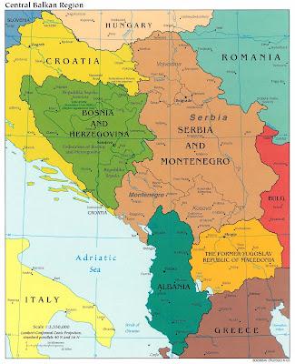 Kaart balkan zuidoost europa cia 1993 kaart joegoslavië uit de