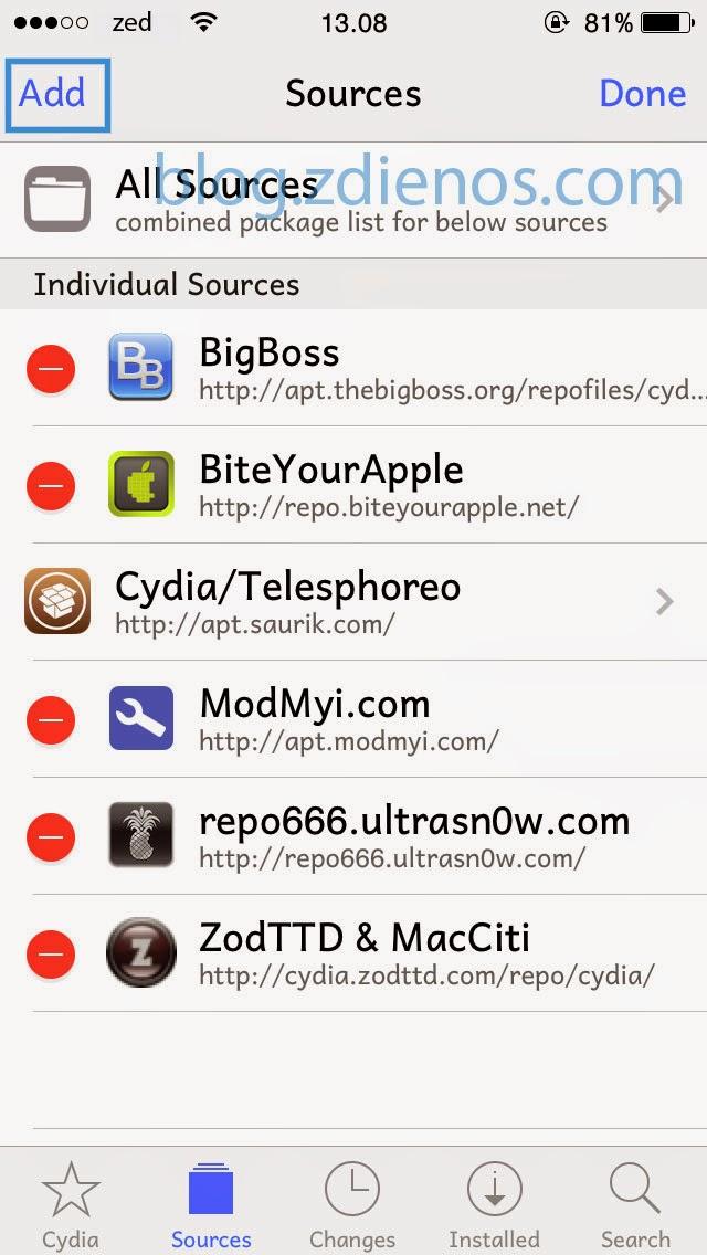 Cara Menambahkan Repository (Repo) pada Cydia - 3
