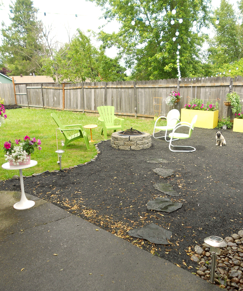 abby and adam: backyard makeover - DIY crushed rock patio