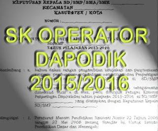 gambar SK dapodik 2015/2016
