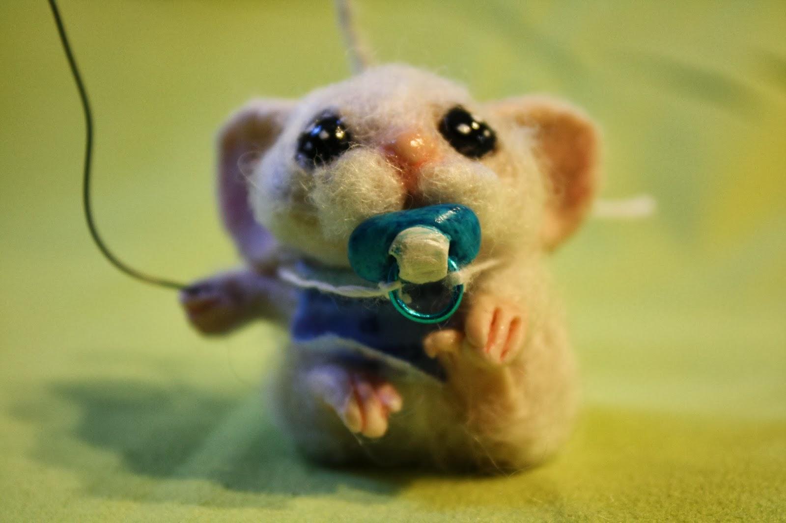 ooak mouse topo miniature handmade topolino baby