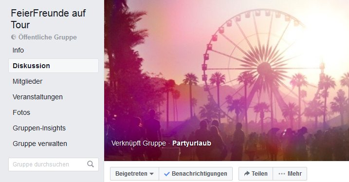 FeierFreundliche FacebookGruppe