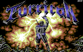 Turrican loading screen commodore 64