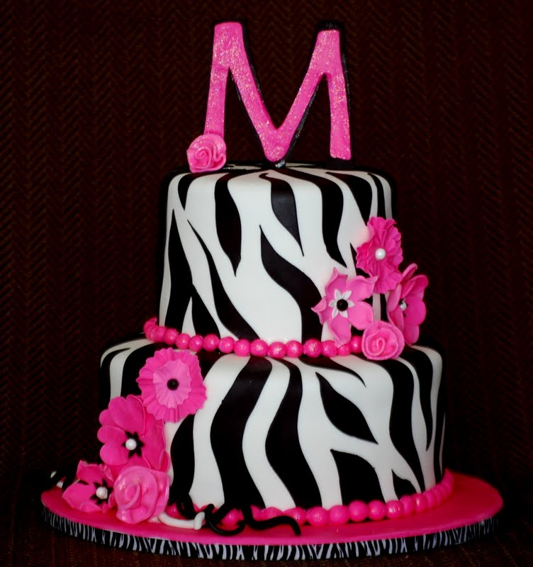 cakefilley zebra baby shower cake
