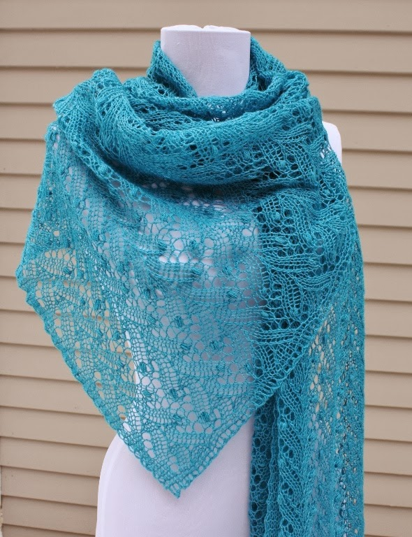 Lace Knitting Patterns Free : All Knitted Lace: January Estonian Lace Shawl - pattern