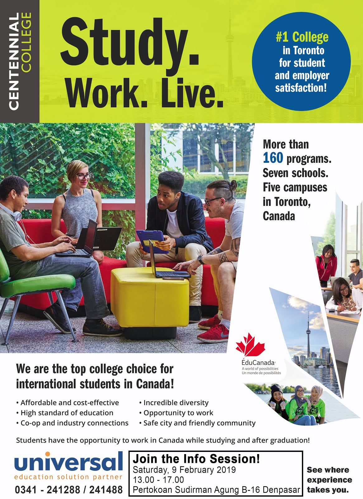 Study Work and Live in CANADA