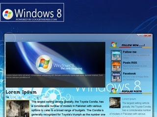 Windows8 Blogger Template