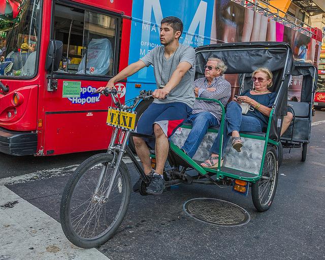 Conhecendo Nova York de pedicab