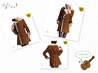 fashion sheepskin coat for women