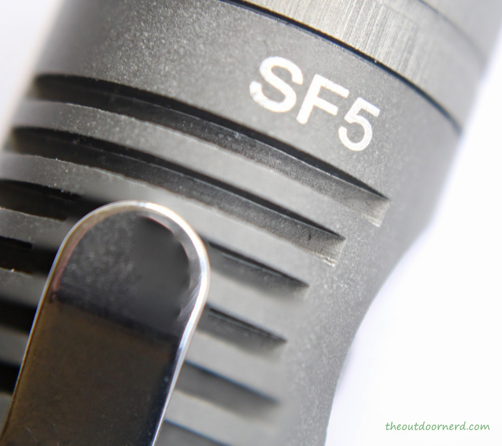 Spark SF5 1xAA Flashlight: Closeup Of Logo