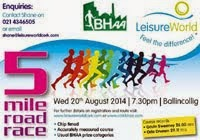 Wed 20th Aug. BHAA 5m race in Ballincollig, Cork