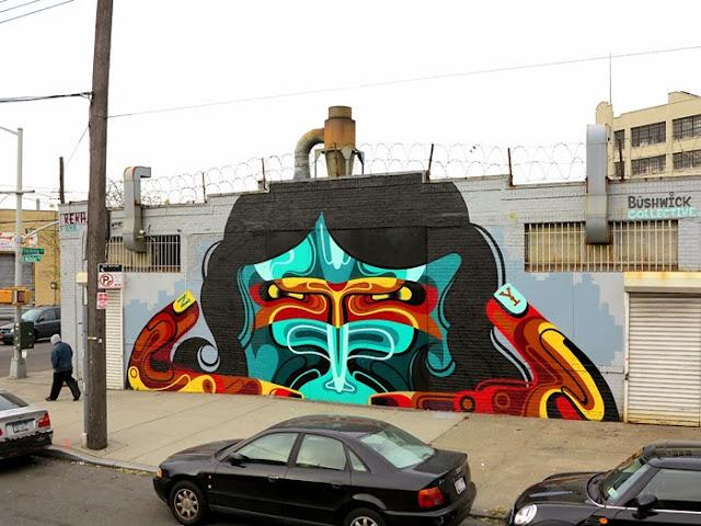 New Street Art Mural By Australian Artist REKA in Bushwick, New York City. 4