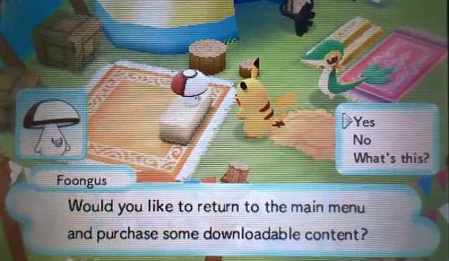 Pokémon Mystery Dungeon Gates to Infinity Foongus DLC shop
