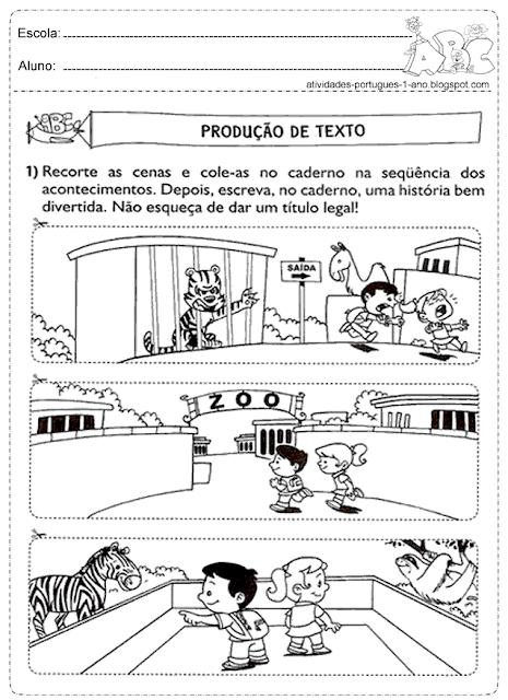 Atividades de produção de texto