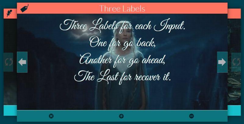 Múltiples labels por cada input y un input para controlarlas a todas. Slide demo