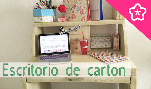 Muebles de cart n escritorio estilo for Como decorar un buro