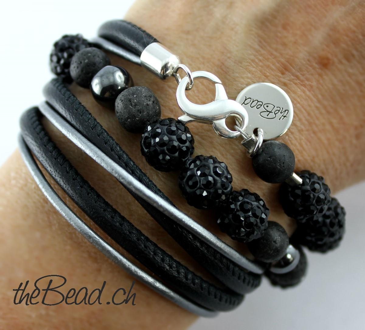Lederarmband damen schwarz  armband schwarz damen – Große Auswahl an Piercing und ...