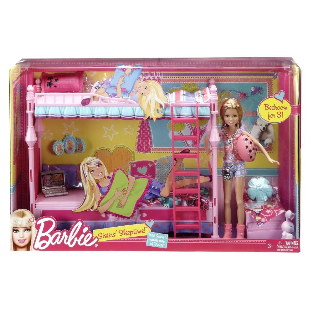 Barbie Barbie Y Su Familia Cama Para Tres Con Stacie