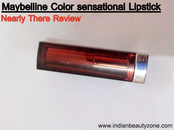 Maybelline Color sensational Lipstick Nearly There Swatches and LOTD