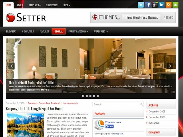 Setter - Free Wordpress Theme