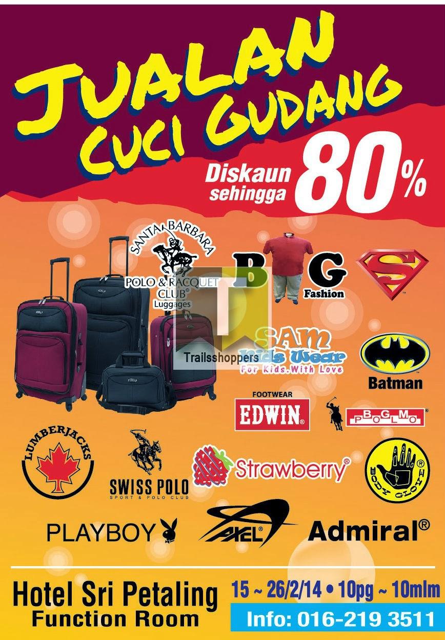Jualan Cuci Gudang Branded Warehouse Sale apparels Kuala Lumpur