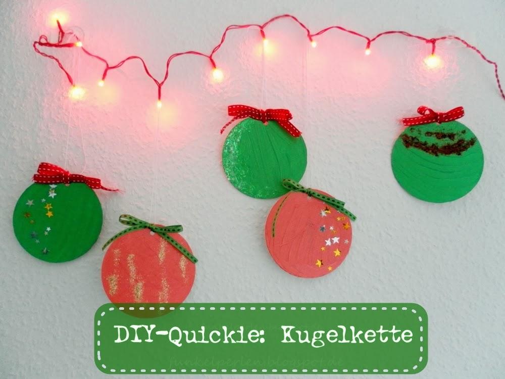 DIY-Quickie: beleuchtete Kugelkette // funkelperlen.blogspot.de