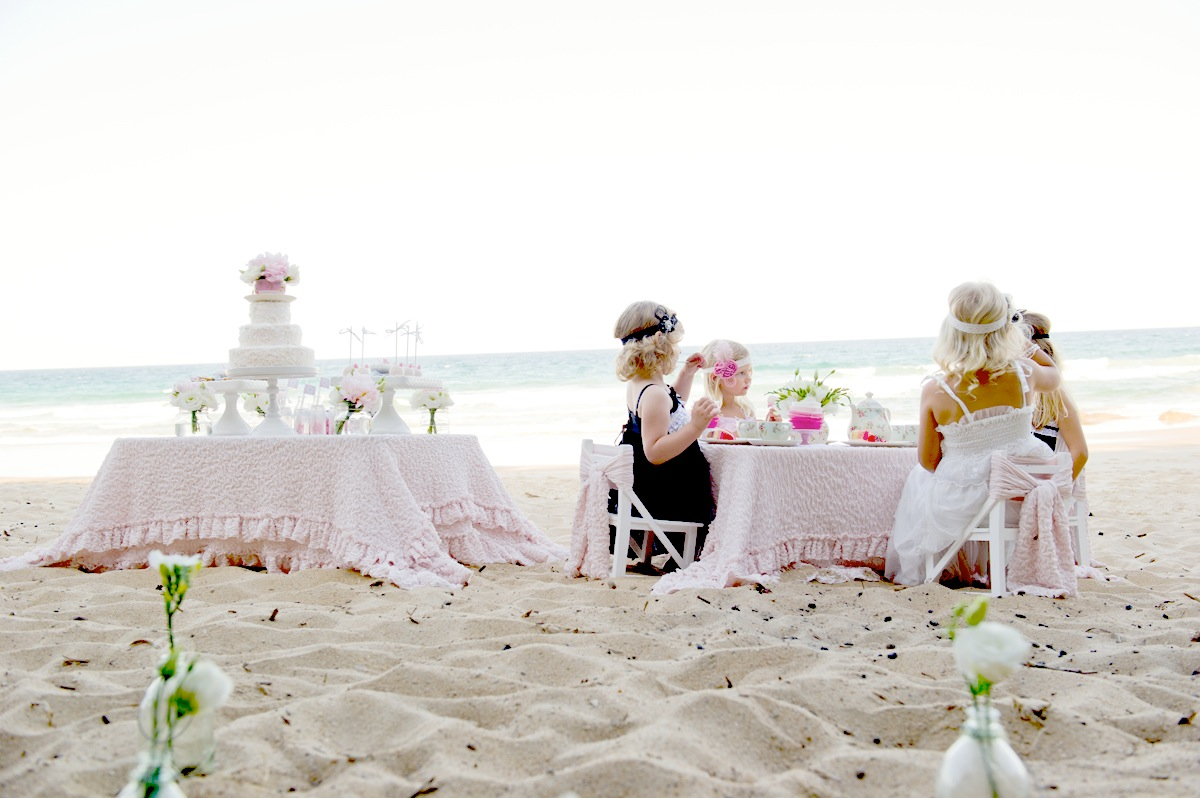 Kara\'s Party Ideas High Tea On The Beach Party | Kara\'s Party Ideas