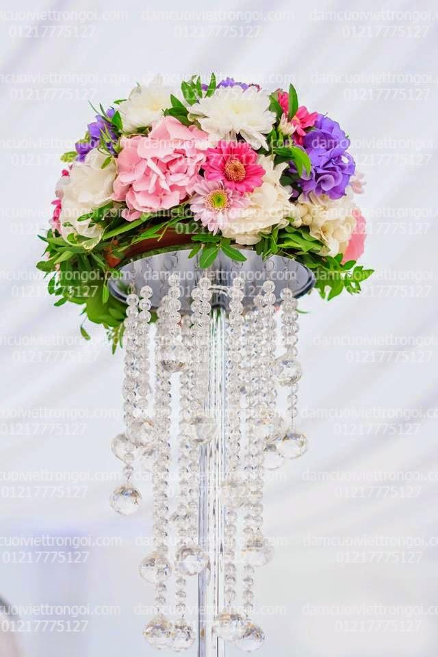 trang trí đám cưới với ngọc trai