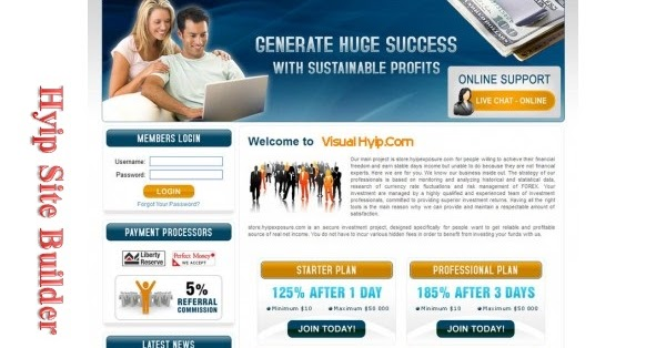 Top paying hyip sites designs