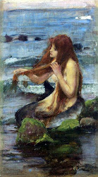 A Mermaid Study, John William Waterhouse