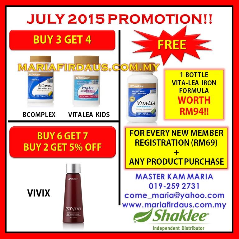 Promotion July 2015!!
