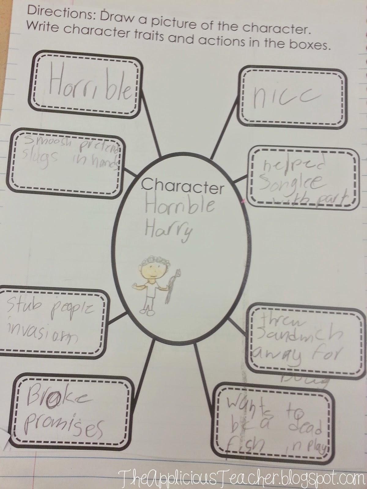 character traits bubble map freebie