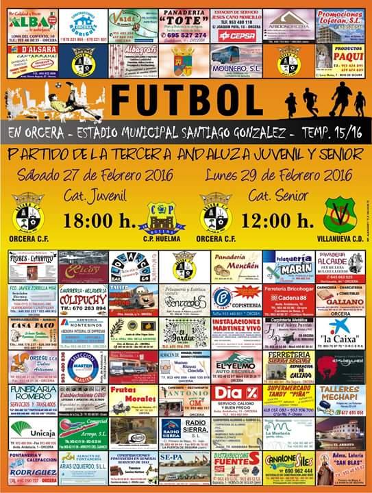 Cartel jornada 17 3 andaluza jaen grupo 1 orcera c f for Piscina municipal de orcera