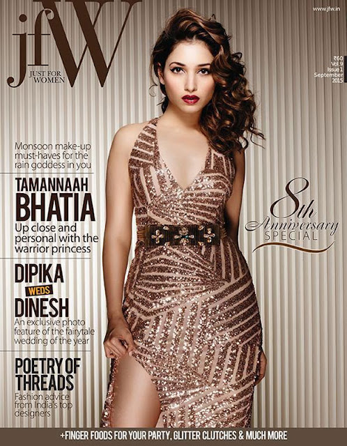 Tamanna Bhatia Hot Photoshoot For JFW Magazine